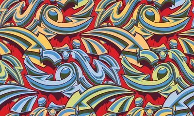 In de dag Graffiti Color graffiti arrows seamless background