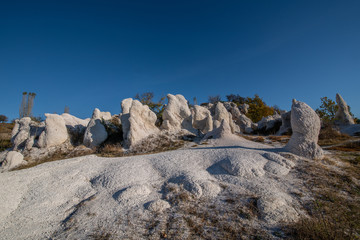 Rock phenomenon The Stone Wedding located near the village of Zimzelen, Bulgaria