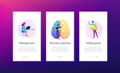 Strategy planning app interface template.