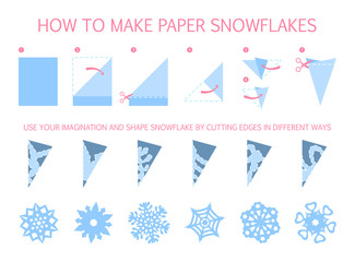 How to make christmas white snowflake of different shape diy