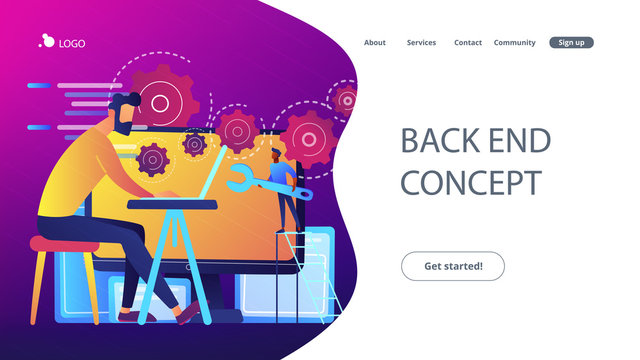 Back end development it concept vector illustration