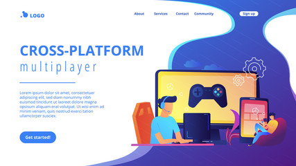 Cross-platform play concept landing page.