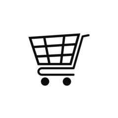 Cart icon vector illustration eps10. Isolated badge shopping cart  for website or app - stock infographics