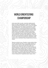 Vector illustration of orienteering map