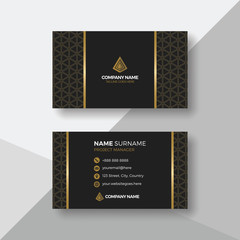 Elegant business card with gold details