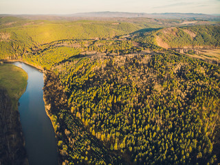 Republic of Bashkortostan, rivers, autumn Idrisovskaya cave.
