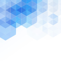 Abstract high resolution illustration of blue faded hexagonal geometric layered design background perfect for Medical, Healthcare and Science and many other Businesses Plenty of copy space.