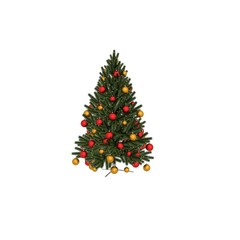 3d render christmas tree