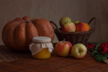 autumn vegetable fruit still life
