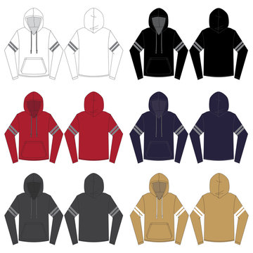Vector template for Men's Atheltic style Hoodies