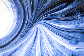 abstract background texture of the mixed paint white and blue which lays a pattern