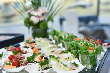 Photo sur Plexiglas Buffet, Bar Hochzeitsbuffet, Buffet und Catering