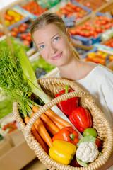 Woman holding a basket