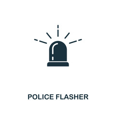Police Flasher icon. Premium style design from security icon collection. UI and UX. Pixel perfect Police Flasher icon for web design, apps, software, print usage.