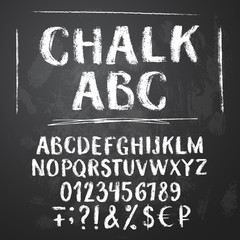 Rough chalk latin alphabet
