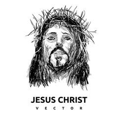 black JESUS CHRIST logo vector illustration, Perfect for camp logo or T-shirt design