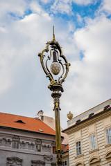 Lampadaire dans les rues de Prague