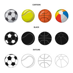 Isolated object of sport and ball symbol. Collection of sport and athletic stock symbol for web.