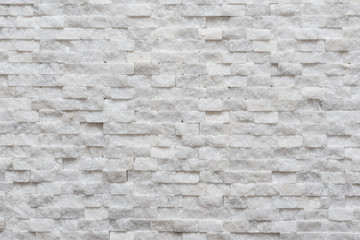 Printed roller blinds Brick wall White modern decorative wall small marble brick background texture, decorative pattern quartz stone mosaic. interior decoration of the room