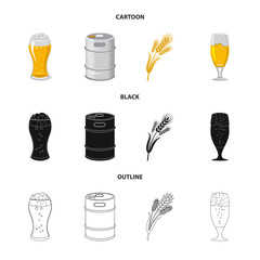 Vector illustration of pub and bar symbol. Collection of pub and interior stock symbol for web.