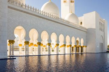 A pool of water near Shaikh Zayed bin Sultan al Nahyan Grand Mosque Abu Dhabi