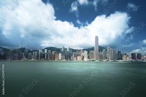 Fototapete Hong Kong harbour, long exposition