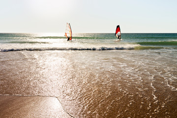 windsurfing  in Conil , Cadiz, Spain