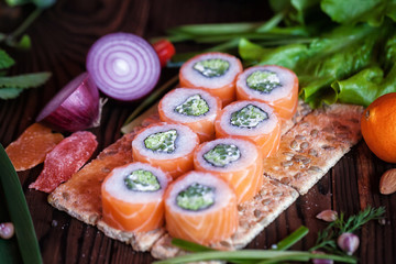 Sushi and rool menu