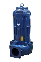 Image of a submersible pump. Equipment for the disposal of manure.