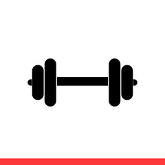 Dumbbell vector icon, Modern flat sign isolated on white background