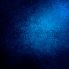 blue spotlight background with black border, elegant corner lighting design with painted vintage grunge texture with old marbled crackled paint surface