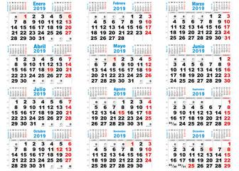 calendario 2019 lunas