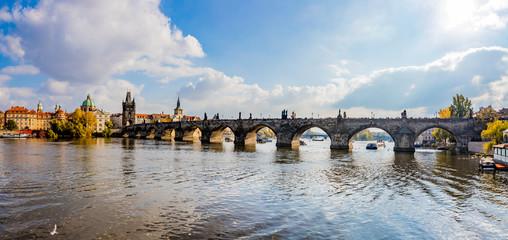 Panorama du Pont Charles de Prague