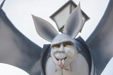 bat vampire with sharp teeth.