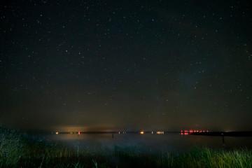 Sternenhimmel über dem Darß mit Bodden