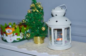 christmas tree with candle Новогодний декор