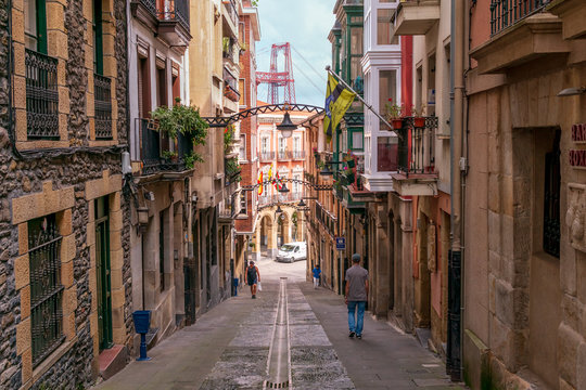 Street in Portugalete, Bilbao, Spain