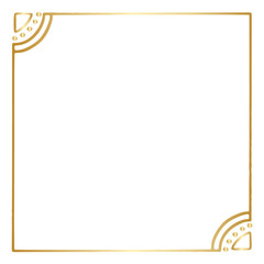 Simple Gold Vector Hand Drawn Border