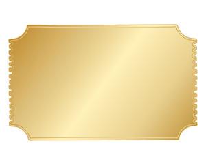 Simple Gold Vector Hand Drawn Border