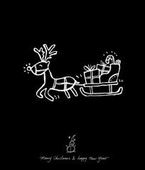성탄절 / 손으로 그린 성탄전 카드