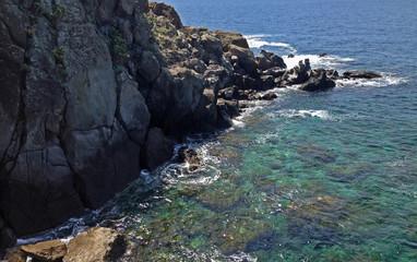 Rock coast on the island of Ischia Italy