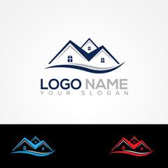 Real Estate Logo Vector Illustration