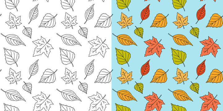 Autumn maple leaf seamless pattern