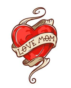 love mom tattoo
