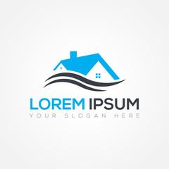 Real Estate Logo Design Vector Illustration