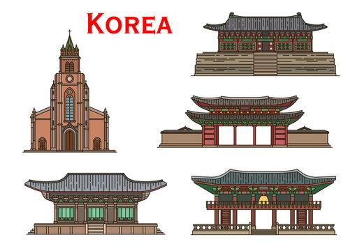 Korean travel landmarks ancient buildings