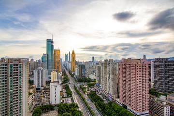 Shenzhen Luohu City Skyline