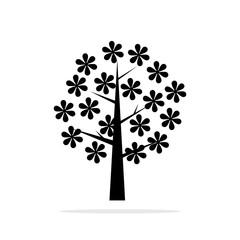 tree icon. Vector concept illustration for design.