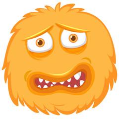 A fear monster face