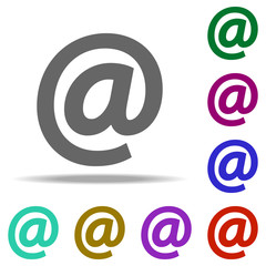 mail icon. Elements of web in multi color style icons. Simple icon for websites, web design, mobile app, info graphics